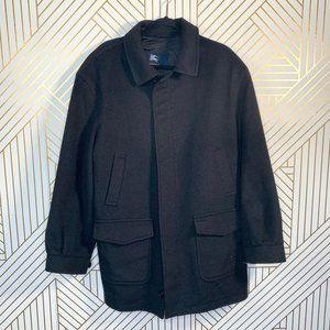Burberry Men's Sasso Black Cashmere Zip Front Coat